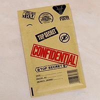 Крафт-конверт с воздушно-пузырьковой плёнкой 'Совершенно секретно', 11 х 16 см (комплект из 10 шт.)