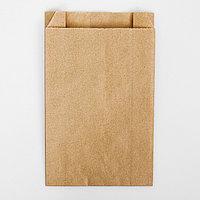 Пакет бумажный фасовочный, крафт, V-образное дно 20 х 14 х 6 см (комплект из 100 шт.)
