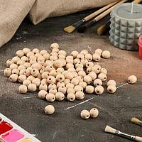 Деревянная заготовка 'Бусина', d14 мм (комплект из 100 шт.)