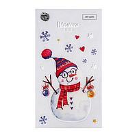 Наклейки на телефон 'Снеговик', 8 х 14 см (комплект из 5 шт.)