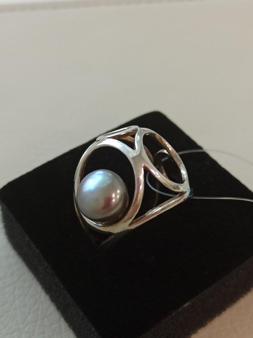 Кольцо с жемчугом / размер 18