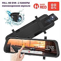 Видеорегистратор автомобильный  Зеркало На Полный Экран - 2 камеры (+ заднего вида) FullHD Android DVR L1023