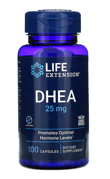 Life Extension, ДГЭА, 25 мг, 100 капсул