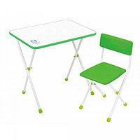 Детский стол Ника + мягкий стул Умка фантазер зеленый
