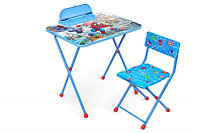 Детский стол Ника + мягкий стул Д2ЧП с человеком-пауком