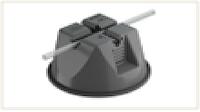 Универсальный держатель круглых проводников диаметром 8-10 мм для плоской кровли