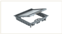 Лючок GES9-3S U (универсальный) 12xModul45 (для 3xUT4, полиамид, серый)