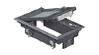 Лючок GES2U (универсальный) 3xModul45 (для 1xUT3, полиамид, серый)