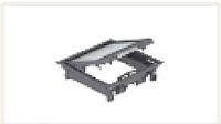 Лючок GES4-2U (универсальный) 6xModul45 (для 2xUT3, полиамид, серый)
