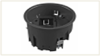 Монтажная коробка для лючка GES R2, 120х85 мм (пустая, суппорт 1+1, полиамид)