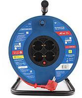 Силовой удлинитель на катушке Power Cube PC20502 красно-синий