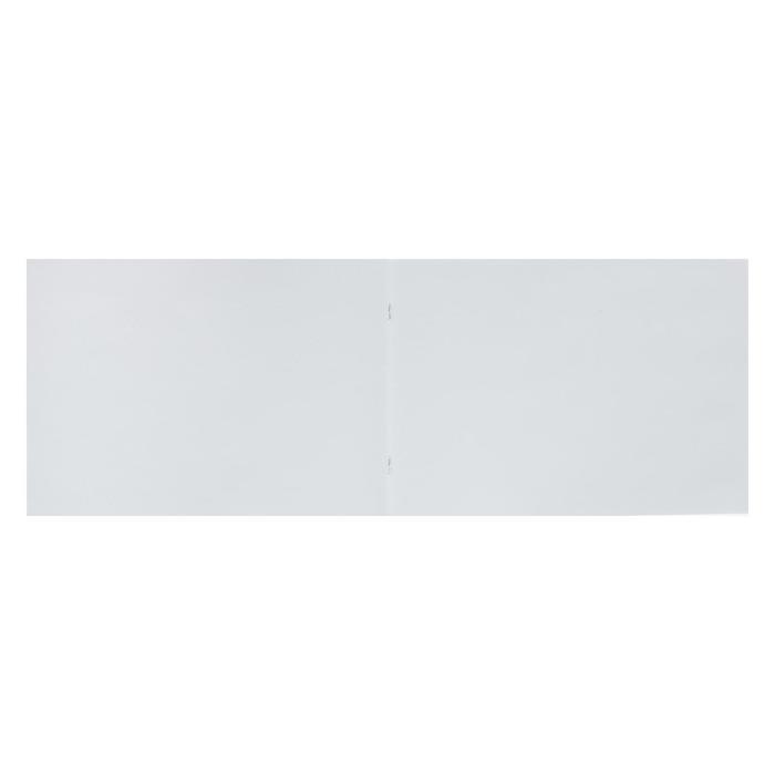 Альбом для рисования А4, 8 листов на скрепке 'Дизайн с динозаврами', бумажная обложка, блок офсет - фото 2