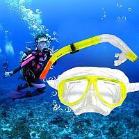 Набор для плавания Seals (дыхательная трубка и маска) желтый 00298