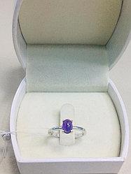 Кольцо с аметистом / серебро - 16,5 размер