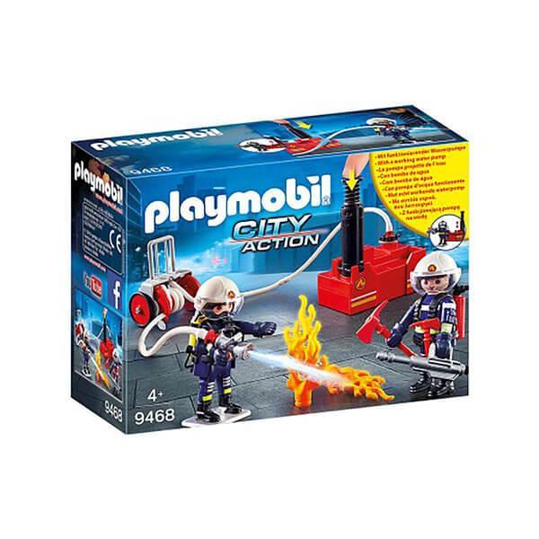 Конструктор Playmobil Пожарная служба: Пожарные с водяным насосом 9468 - фото 1