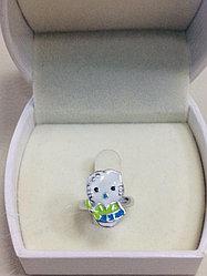 "Кольцо детское "" Hello Kitty "" / серебро - 14,5 размер"