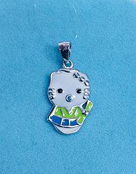 """Подвеска детская"""" Hello Kitty """" / серебро - 2,3 см"""