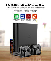 Dobe / Многофункциональный вертикальный охлаждающий стенд DOBE для консолей PS4 / PS4 Slim / PS4 Pro.