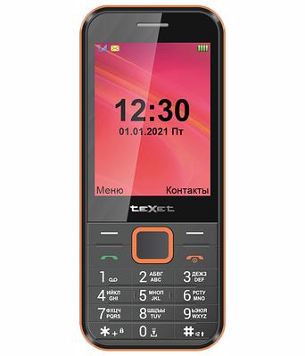 Мобильный телефон Texet TM-302 черный-красный