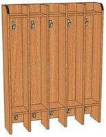 Вешалка на 5 крючков для полотенец для детского сада (750х160х950) напольная односторонняя арт. ВП3