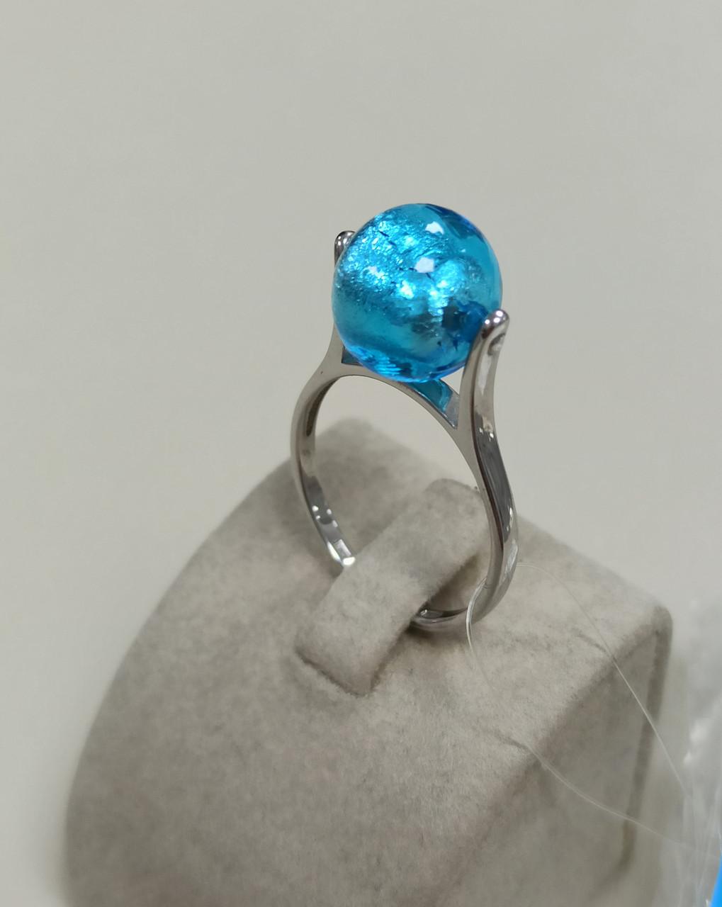 Кольцо с муранским стеклом / 18 размер