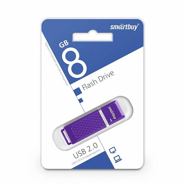USB-накопитель Smartbuy 8GB Quartz series Violet