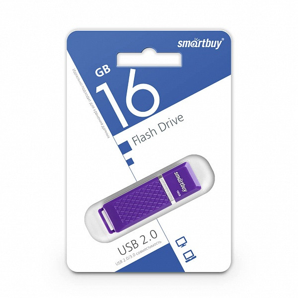 USB-накопитель Smartbuy 16GB Quartz series Violet