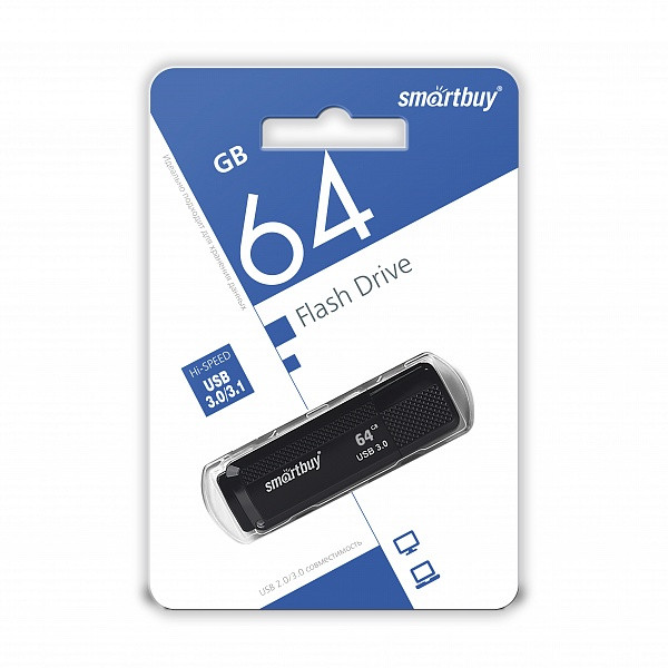 USB 3.0 накопитель Smartbuy 64GB Dock Black