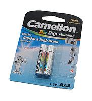 Батарейки Camelion AAA (LR03-BP2DG) Digi alkaline, комплект - 2 штуки
