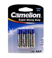 Батарейки Camelion AAA (R03P-PB4B) super heavy duty, комплект - 4 штуки