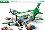 Конструктор Sluban Авиация 0371: грузовой самолет 383 деталей аналог лего Lego City Аэропорт, фото 5