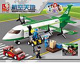 Конструктор Sluban Авиация 0371: грузовой самолет 383 деталей аналог лего Lego City Аэропорт, фото 8
