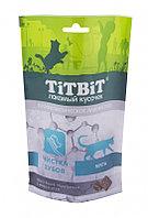 Titbit Хрустящие подушечки для кошек с мясом утки для чистки зубов 60 г 015407