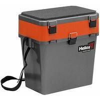 Ящик рыболовный зимний серый/оранжевый Helios (HS-IB-19-GO) tr-276343