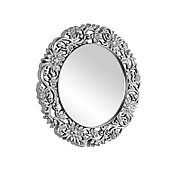 Круглое зеркало настенное 86х86 см, серебро CLK899