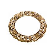 Круглое зеркало настенное 86х86 см, золото CLK899