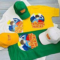 Печать логотипа на одежде, футболки, бейсболки, шоперы