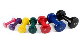 Фитнес гантели цветные