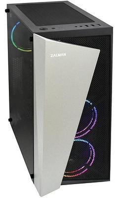 Корпус ATX midi tower Zalman S4, (без БП), черный