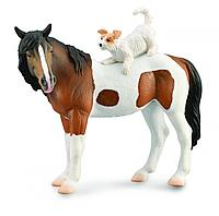CollectA Фигурка Лошадь и собака терьер, 15 см