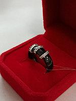 Кольцо керамика с цирконом / размер 17
