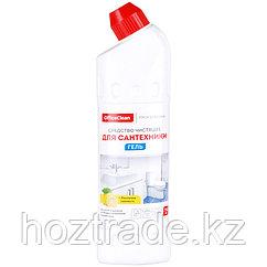 """Чистящее средство для сантехники OfficeClean """"Лимонная свежесть"""", гель с хлором, 750мл"""