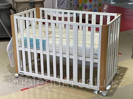 Детская кроватка Kinderkraft 🇪🇺 с матрасом KOYA White