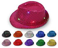 Светодиодная светящийся шляпа с пайетками