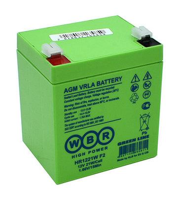 Аккумулятор  для UPS, WBR HR1221W F2, зеленый