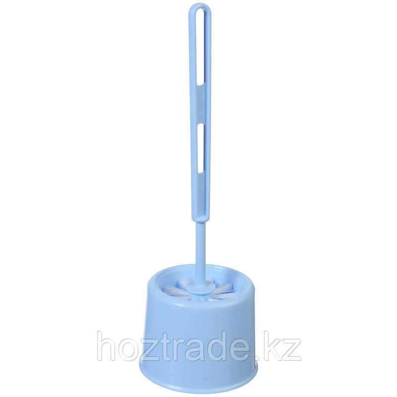 """Ерш для унитаза Idea """"Эконом"""" с подставкой, 12*17см, пластик, голубой"""