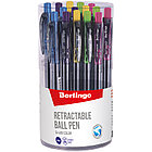 """Ручка шариковая автоматическая Berlingo """"SI-400 Color"""" синяя, 0,7мм, грип, корпус ассорти, фото 2"""