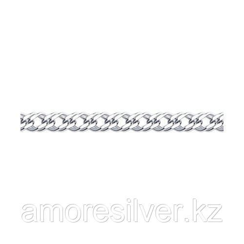 Браслет SOKOLOV серебро с родием, без вставок, ромб двойной 965041202 размеры - 21