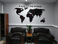 Панно карта мира (ширина 2 м)