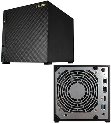 Сетевой накопитель ASUS AS3204T v2 NAS iCeleron-1.6 GHz/2GB DDR3L/0TB, 4 HDD SATA3, GLAN/3USB 3.0/HDMI, RAID 0